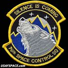 USAF 76th SPACE CONTROL SQ SILENCE IS COMING US AIR FORCE SATELLITE PATCH