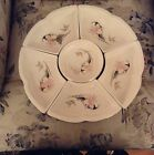 VINTAGE ASIAN HANDPAINTED LAZY SUSAN FINE CHINA PU PU PLATTER VERY NICE