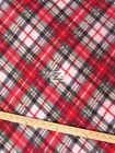 PLAID PRINT POLAR FLEECE FABRIC Green Red 60 WIDTH SOLD BY THE YARD 535