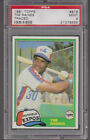 1981 Topps Traded #816 TIM RAINES (RC) PSA 9 MINT Montreal EXPOS