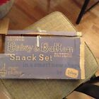 ANTIQUE DAISY AND BUTTON SNACK SET ORGINAL BOX SERVICE FOR THREE AWESOME