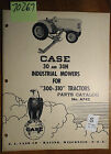 IH Case 30 30H Industrial Mower 300 310 Tractor Parts Catalog Manual A742 12/56