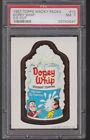 1967 Topps Wacky Packs #10 DOPEY WHIP DIE-CUT PSA 7 Near Mint Packages