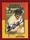RALPH KINER Bold Autograph Auto Cleveland Indians NICE! HOF Signed