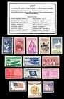 1957 COMPLETE YEAR SET of Mint Never Hinged Vintage Postage Stamps