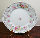 Antique VTG Hand Painted Shabby Roses Chic Gold Gild Sandwich Ca