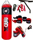 MADX 4ft 5ft Filled Heavy Punch Bag Custom Build SetChainsBracketGlovesMma