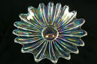 PRESSED GLASS HAND CRAFTED IRIDESCENT SHIMMER CANDY BOWL DECORATIVE DISH
