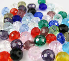New Faceted 100pcs Rondelle glass crystal 5040 3x4mm Beads U pick colors