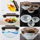 3p Portable Serving Mixing Bowls Fruit Vegetable Salad Dressing Picnic Container