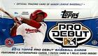 2013 TOPPS PRO DEBUT BASEBALL HOBBY BOX (4 HITS BOX)