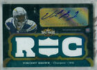 2011 Topps Triple Threads Emerald Vincent Brown Auto Jersey Rc Serial# to 50