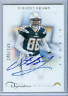 2011 Prime Signatures Vincent Brown Auto Rc Serial # to 249