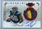 2011 Plates & Patches Vincent Brown Auto 3 Color Jersey Patch Rc Serial # to 499