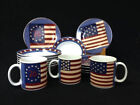 Brandon House Warren Kimble Sakura SPIRIT OF THE FLAG 16pcs Plates Bowls Mugs
