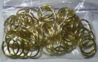 WHOLESALE CRAFTS LOT 50 GOLD KEY RINGS SPLIT RINGS KEY CHAIN 1
