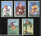 Lot of 5! 1951 Topps Magic Football Cards #15 #25 #26 #38 #40