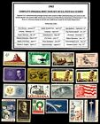 1962 COMPLETE YEAR SET OF MINT NH MNH VINTAGE US POSTAGE STAMPS