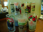 EIGHT 8 HORSE RACING GLASSES KENTUCKY DERBY 1984 1988 2006