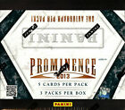 2013 PANINI PROMINENCE FOOTBALL HOBBY BOX (3 AUTOS BOX) FACTORY SEALED