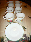 CORELLE SUMMER BLUSH TALL CUPS AND SAUCERS
