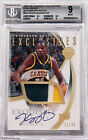 2007-08 Kevin Durant UD Exquisite Exclusives Rookie RC Patch Auto 35 BGS 9 10