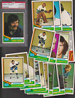 1974 75 O-Pee-Chee Team Lot of 18 Vancouver CANUCKS NM OPC w PSA - Don LEVER