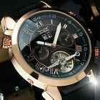 Jaragar Luxury Automatic Stainless Steel Skeleton Tourbillon Watch
