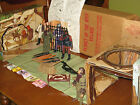 MEGO PLANET OF THE APES VILLAGE +5 FIGURES + INSTRUCTIONS+ ORIGINAL SHIPPING BOX