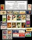 1974 COMPLETE YEAR SET OF 30 MINT NH MNH VINTAGE US POSTAGE STAMPS