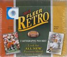 2013 Upper Deck Fleer Retro Football Factory Sealed Hobby Box - 2 Autos per Box