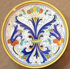 Deruta Pottery-12,5 inch Plate Ricco Made/painted by hand in Italy