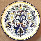 Deruta Pottery-12,5 inch Plate Ricco bellissimo Made/painted by hand in Italy