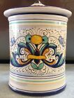 Deruta Pottery-canister 5 inch Ricco. Made/painted by hand in Italy