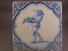 Antique Dutch Delft Tile Soldier Rare Tiles 17th century - free shipping