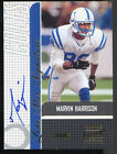 Marvin Harrison 2001 Stadium Club LONE STAR SIGNATURE Certified Autograph