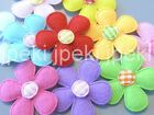 50 Padded Felt Gingham Center Flower Appliques 1 3 8 10 Colors U Pick A267