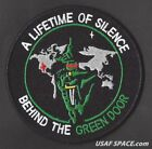 USAF DOD CLASSIFIED INTELLIGENCE LIFETIME OF SILENCE BEHIND THE GREEN DOOR PATCH