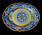 Deruta pottery GEOMETRICO  VARIO LARGE OVAL  PLATE PLATTER 17