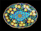 Deruta pottery GEOMETRICO AND LEMONS VARIO LARGE OVAL  PLATE PLATTER 17