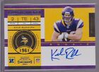 2011 Contenders Rookie Ticket Kyle Rudolph Auto Rc
