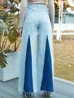 NWT Women Vanilla Star Blue Denim Jeans Jumpsuit Over all Vintage 70s XS XSmall
