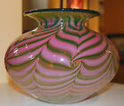 Daniel Lotton Hand Pulled Glass Vessel - Green and Pink