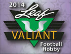 2014 LEAF VALIANT FOOTBALL HOBBY BOX (FACTORY SEALED - 4 AUTOS BOX)
