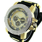 Brand New Mens Silver/Gold Ice Nation Watch Hip Hop Bullet Band Wrist Watch