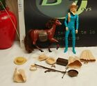 Marx Toy Jane West Cowgirl Some Accesories  Little Horse