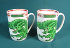 Two Fitz & Floyd Dragon Crest Mugs