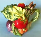 Fitz Floyd Le Marche Tea Pot Vegetables Asparagus Tomatoes Eggplant Nice
