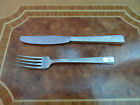 Vintage Collectible HILTON Diner Knife Fork Silver plate Internetional Silver Co