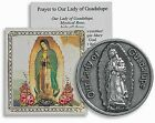 Our Lady of Guadalupe Pocket Coin with Holy Card and Prayer NEW SKU TS037